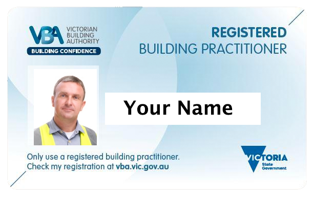 registered builder identification card